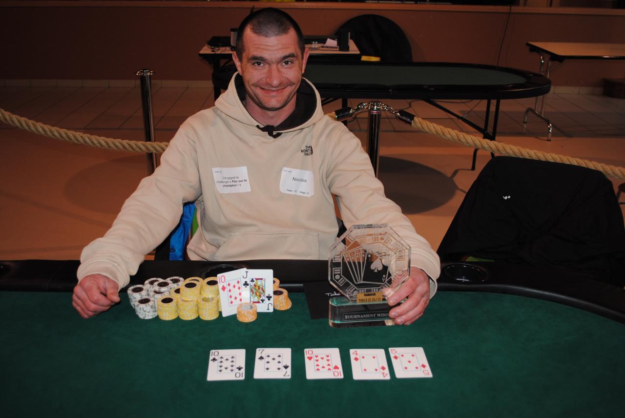 C'est Nicolas le grand vainqueur du tournoi de printemps 2013